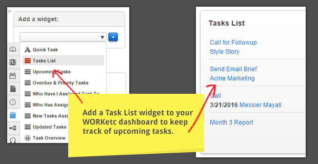 WORKetc tasks widget