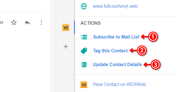 WORKetc CRM Add-on for Gmail